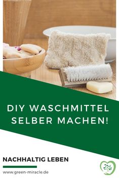 So einfach kannst du Waschmittel selber machen! #GreenMiracle #DIY #Nachhaltigkeit Min, No Waste, Zero, German, Hacks, Inspiration, Diy Laundry Detergent, Cleaning Supplies, Organic Beauty