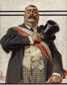 The Candidate - Saturday Evening Post cover, September 18, 1920 by J. C. Leyendecker