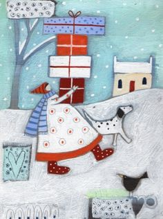 Christmas Shopping By Louise Rawlings