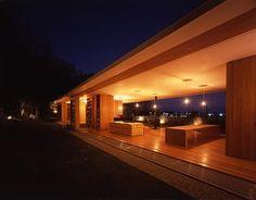 indoor outdoor space, great night-time lighting