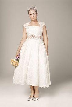 Short Plus-Size Wedding Dresses   Brides.com