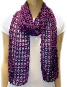 Lace crochet scarf-with pattern