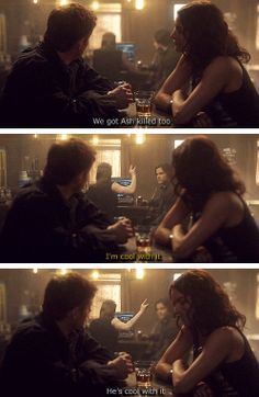 """[gifset] """"He's cool with it!""""5x16 Dark Side of the Moon."""