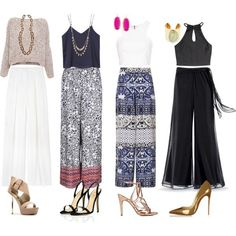 22 Awesome Palazzo Pants Polyvore Outfits