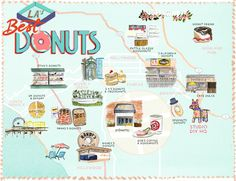 Best Donuts in Los Angeles Map (Free Printable!)