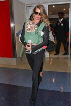 Gisele Bundchen and Vivian Catch a Flight Out of LA While Tom Begins Training | Pics & Details