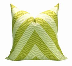 This listing is for one Nebaha Citron pillow cover. DESCRIPTION  Designer: Martyn Bullard for F. Schumacher  Colors: Citron yellow-chartreuse, pale
