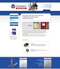 Site vitrine de la société Diamac-Suisse à Porrentruy.  Administration via le CMS Joomla!. www.diamac-suisse.ch