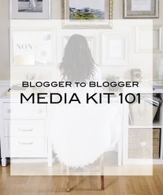 Blogger to Blogger | Media Kit 101 blogging tips, blogging ideas, #blog #blogger…