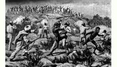 """Ernest Giles Expedition in 16th October, 1875. """"The men were closely packed in serried ranks, and it was evident they formed a drilled and perfectly organised force..."""" eBook https://ebooks.adelaide.edu.au/g/giles/ernest/g47a/complete.html"""