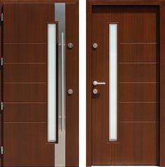 Drzwi wejściowe z kolekcji INOX model 441,1-441,11+ds9 produkcji AFB-Kraków