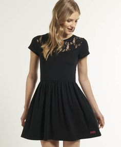 Superdry Lace Skater Dress: Get Free Shipping on All Orders in North America at Superdry.