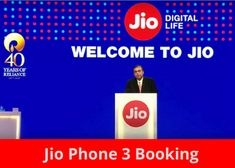 Jio phone 3 booking online by Flipkart-amazon price in India full detail - Jio Phone 3 Mobile Phone Logo, Mobile Phone Shops, New Mobile Phones, Smartphone Price, 3 Online, Tv App, Summer Wallpaper, Amazon Price, Mobile Accessories