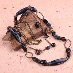 #ONLINE_SHOPPING @ Khoobsurati.com Get this Antique Bronze Chain Long #Neck_String http://khoobsurati.com/pdt/zovon/zovon-black-and-sapphire-stones-antique-bronze-chain-long-neck-string