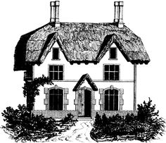 Thatched Roof House Image! - The Graphics Fairy