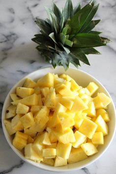 How To Cut a Pineapple - Step By Step Pictures