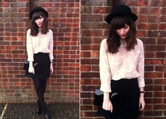 Get this look: http://lb.nu/look/2817609  More looks by Sarah B: http://lb.nu/hellosarah  Items in this look:  Flamingo Print Shirt, Black Suede Skirt