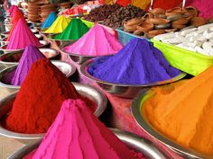 12. Summer colors - I love the vivid colors as those used for the Festival of Colors in India. Reminds me of sunset on a hot day.