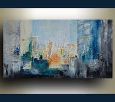 Original Abstract Painting on stretched canvas - Urban - Oil Painting by Tatjana Ruzin - Made to Order