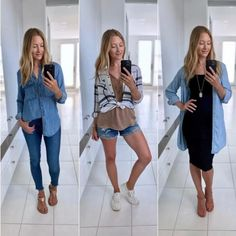 3 Essential looks for Summer & How to Wear them: Button Down, Romper, Kimono Button Downs, Button Down Shirt, Summer Outfits Women, Hot Days, Every Woman, Summer Wardrobe, Kimono, Rompers, Womens Fashion