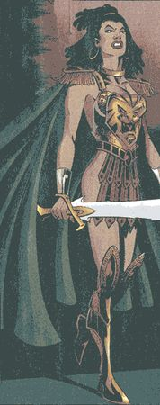 Nu'Bia from Wonder Woman (vol. 2) #154. Art by John McCrea.  She had a complicated history in the modern age, but wound up as the Wonder Woman of Earth 23 in the New 52 Multiverse.