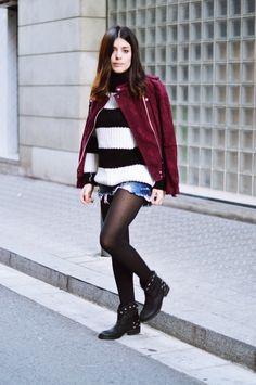 Jacket: Mango / Jump: Friday's Project / Shorts: Zara / Tighs: Calzedonia / Boots: IT SHOES