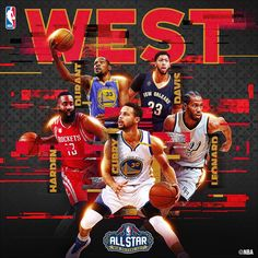 The 2017 Western Conference NBA All Star Starters!