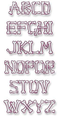 Dog Bone Font ... embroitique.com #EmbroideryDesignsFree