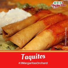 The weekend got us like, taquitos please! Orchard Restaurant, Mall, Ethnic Recipes, Food, Margaritas, Essen, Meals, Yemek, Eten