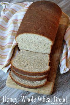Honey Whole Wheat Bread recipe: the perfect sandwich bread recipe from RecipeGirl.com #bread #wholewheat #honey #baking #homemade #recipe via @recipegirl