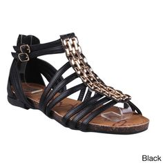 Refresh Women's 'Lisa-03' Chain Vamp Ankle-height Gladiator Sandals | Overstock.com Shopping - Great Deals on Refresh Sandals