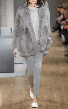 Toscana Shearling Peacoat by TIBI Now Available on Moda Operandi