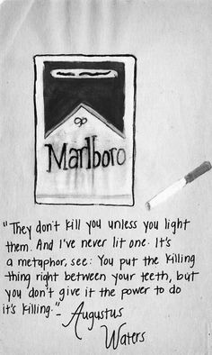 Augustus Waters, metaphorically inclined...