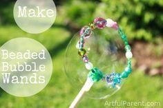 Make Beaded Bubble Wands