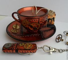 Steampunk Coffee Cup. I think I need this. Okay, maybe not need, but want!