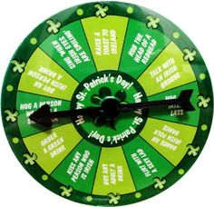 St. Patrick's Day Pin & Spin Drinking Game #65573 « Holiday Adds