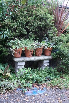 Unique house numbers by Gardening in a Minute, via Flickr