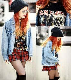 Lua P, Everything Is Second Hand. Love this grungy look. Seems like a good remedy for all the cutesy, colorful beanies out there.