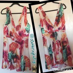 "FINAL SALEHP3/16-NWT-Alice+Olivia Dress-10 HOST PICK 3/16 Best in DressesAMAZING Alice and Olivia Chiffon Floral Dress, size 10. Orig. Price:$398Approx. measurements: 35""L shoulder to hem, 22""L center back to hem, 18"" bust, 14"" natural waist (under bust), 12""shoulder to v-neck     * Ruched bodice     * Plunging V neckline & back     * Sleeveless     * Banded natural waist     * Flounced A-line skirt     * Exposed back zip     * Silk/spandex; polyester/spandex lining     * Dry Clean Alice…"