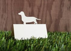 Wedding Place Cards Dog Dachshund Set of 50 by tiffzippy on Etsy, $16.50