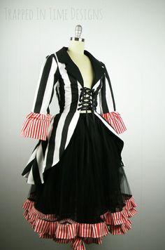Ringmaster Costume Striped Ringleader by TrappedInTimeDesigns (Erin's Teacher costume)