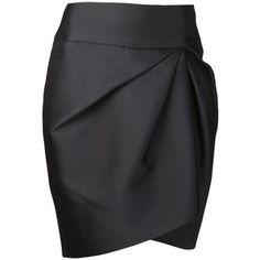GIAMBATTISTA VALLI gathered pencil skirt