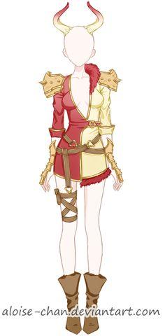 [OPEN] Castanic Armour Adoptable by Aloise-chan.deviantart.com on @DeviantArt