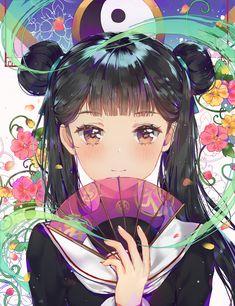 「李 苺鈴」/「DANGMILL」[pixiv] 『#anime #animegirl #japan #kawaii #cute #flower…