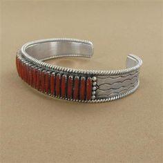 Zuni coral  bracelet