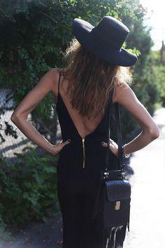 #summer #fashion / black dress
