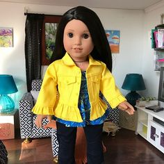 "Denim Jacket 18"" Doll Clothes 