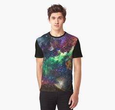Trendy Men's T shirt All over print of Galaxy or front by Kalakita