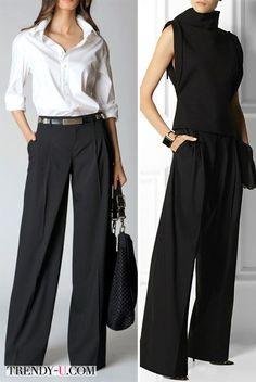 Широкие брюки в тренде