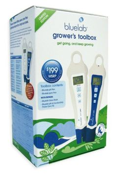 Bluelab Growers Toolbox  A handy pack with everything you need to get going and keep growing. The Bluelab Grower's Toolbox combines the essential tools you need to easily manage your crop by measuring the pH, conductivity (ppm) and temperature of the nutrient solution. Learn the basics with the Bluelab Grow Book, so you can get going and keep growing with the ultimate handy team, the Bluelab pH Pen and Bluelab ppm Pen. These clever little pens make it easy to measure the nutrient upt..